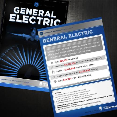 Corporate Tax Dodger Trading Cards: General Electrict