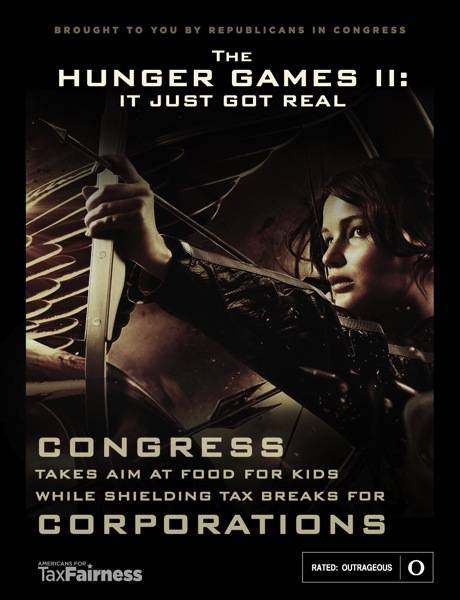 The Hunger Games III: Congress Takes Aim at Food for Kids While Shielding Tax Breaks for Corporations