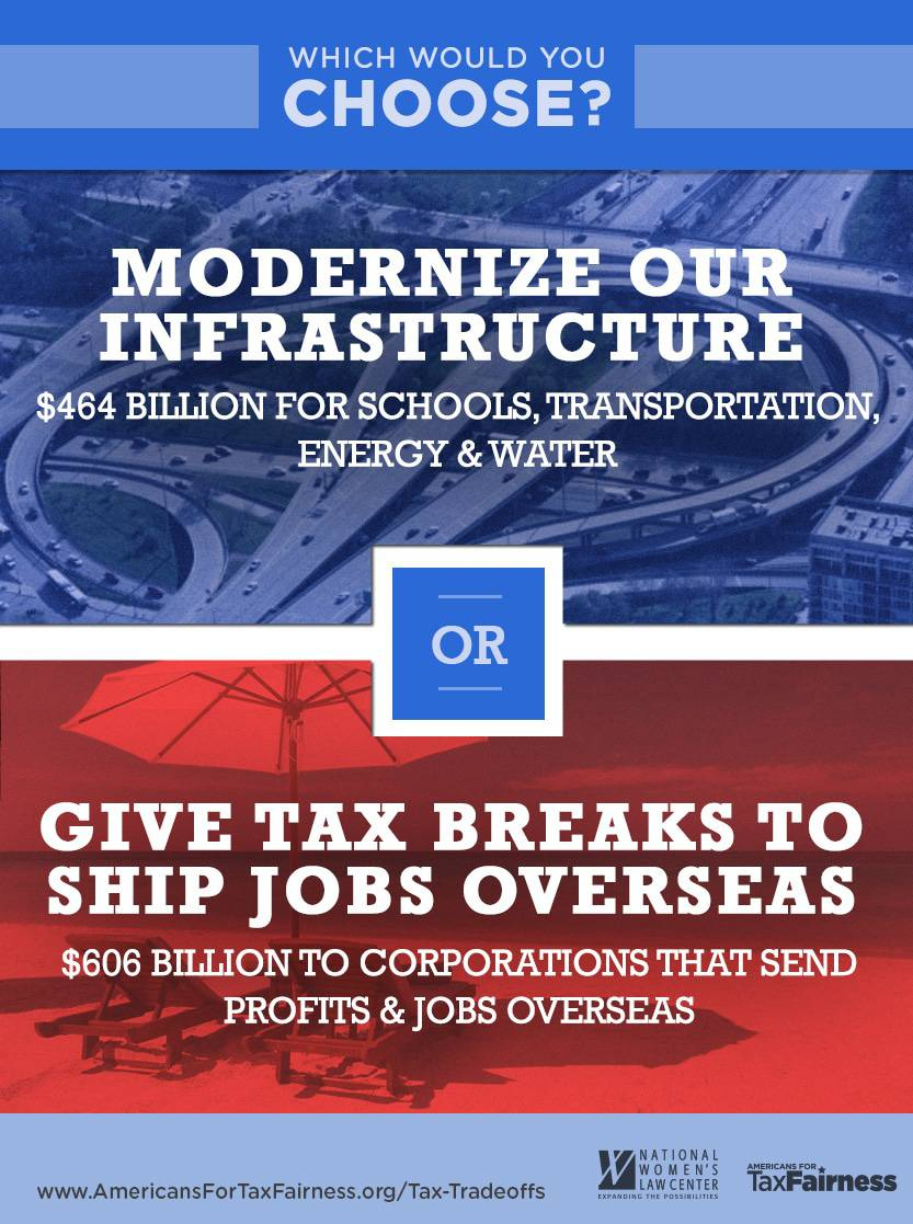 Modernize Our Infrastructure or Give Tax Breaks to Send Jobs Overseas?