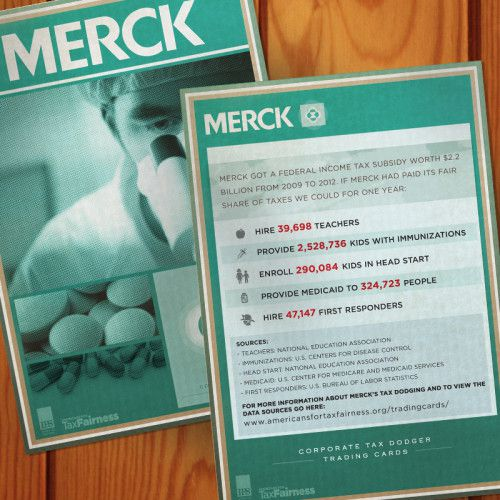 Corporate Tax Dodger Trading Cards: Merck
