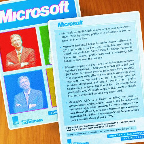Corporate Tax Dodger Trading Cards: Microsoft