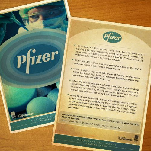 Pfizer Trading Card Share Graphic