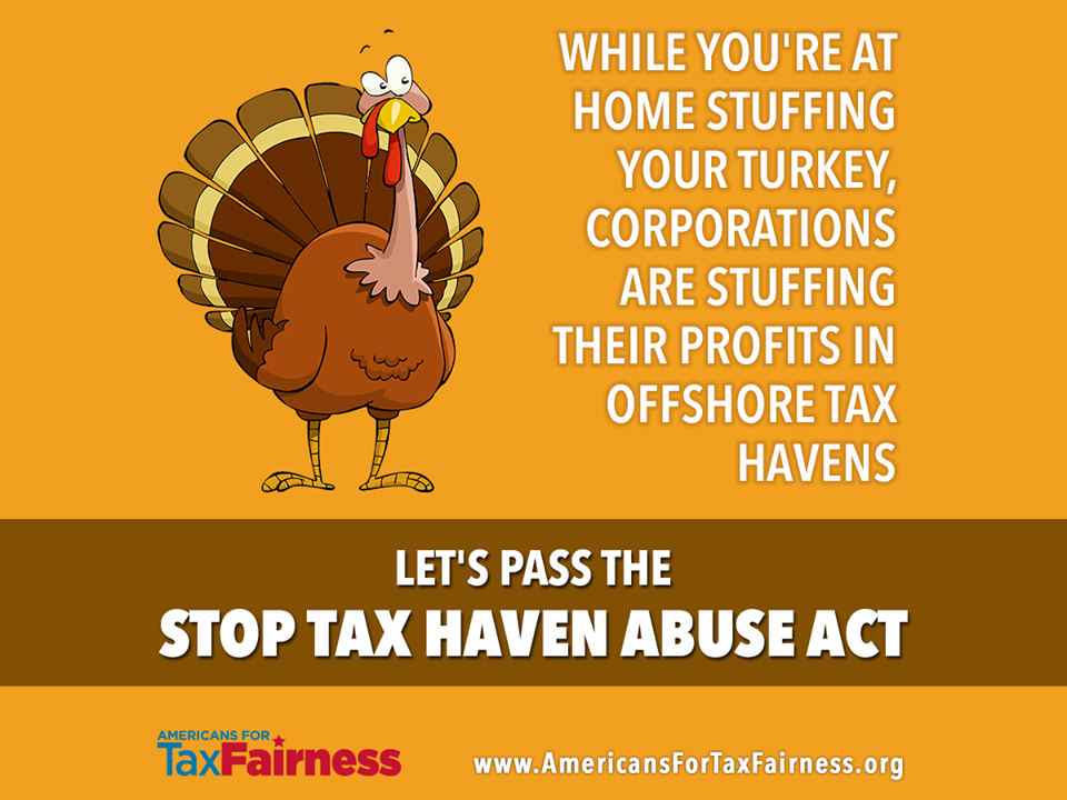 While You're at Home Stuffing Your Turkey, Corporations Are Stuffing Their Profits in Offshore Tax Havens