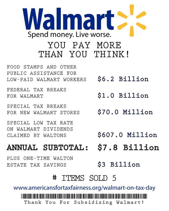 Your Receipt for Walmart's $7.8 Billion in Tax Breaks