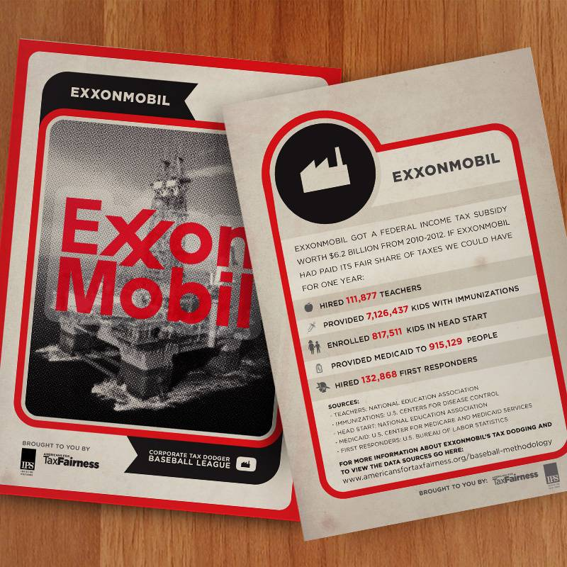 Corporate Tax Dodger Trading Cards: ExxonMobil