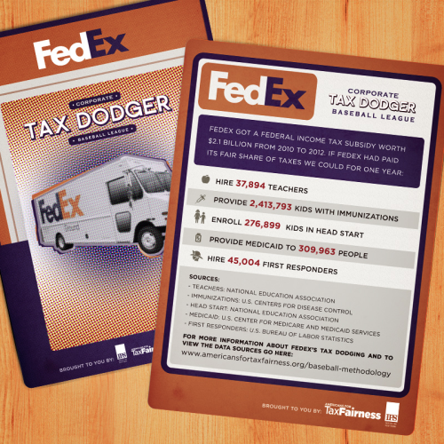 Corporate Tax Dodger Trading Cards: FedEx