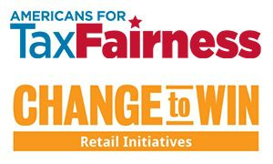 logos: Americans for Tax Fairness and Change to Win Retail Initiatives